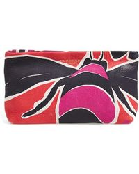 Burberry Women'S Prorsum 'Book Cover Print - Bee' Leather Clutch - Pink - Lyst