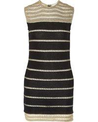 Vionnet Metallic-trimmed Cotton-blend Mini Dress - Lyst