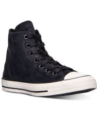 Converse Womens Chuck Taylor Tri-zip Burnished Suede Casual Sneakers From Finish Line - Lyst
