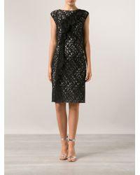 Nina Ricci Black Lace Dress - Lyst
