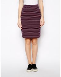 Chinti And Parker Chinti Parker Breton Rib Skirt in Fluro Stripe - Lyst