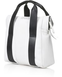 Topshop Womens Perforated Leather Shopper  White - Lyst