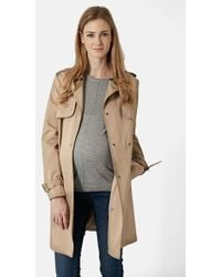 Topshop Women'S Authentic Commercial Maternity Trench Coat - Lyst