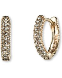 Judith Jack - Marcasite And Crystal Huggie Earrings - Lyst