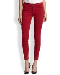 J Brand Luxe Sateen Mid-rise Skinny Jeans - Lyst