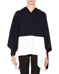 Callens - Oversized Hooded Colorblock Cape - Lyst