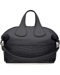 Givenchy Nightingale Croc-stamped Medium Satchel Bag - Lyst