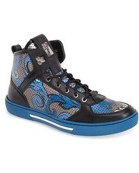 Versace 'Baroque' High-Top Sneaker blue - Lyst
