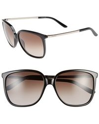 Max Mara Women'S 'Classy Ii/S' 57Mm Sunglasses - Black/ Light Gold - Lyst
