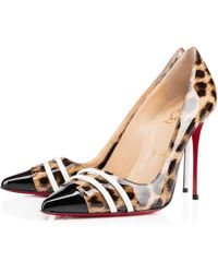 Christian Louboutin Animal Front Double - Lyst