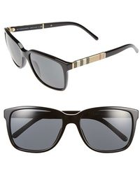 Burberry 58Mm Sunglasses black - Lyst