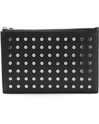 Alexander Wang Prisma Flat Pouch With Eyelets - Black - Lyst