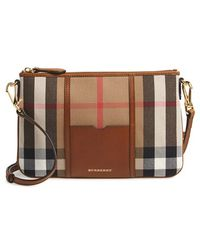 Burberry 'Peyton - House Check' Crossbody Bag brown - Lyst