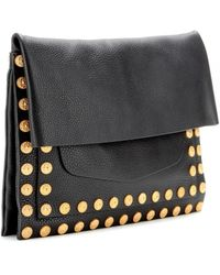 Valentino Gryphon Studs Leather Clutch - Lyst