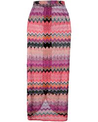 Missoni Zig Zag Crochet Knit Skirt - Lyst