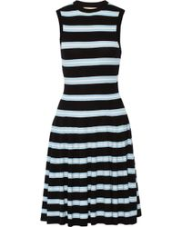 Michael Kors Striped Jersey Dress - Lyst