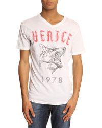 Diesel Fynn Short-Sleeve White Print T-Shirt - Lyst