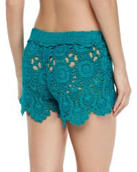 Letarte - Crochet Coverup Shorts - Lyst