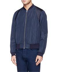 Alexander McQueen Sateen Harness Bomber Jacket blue - Lyst