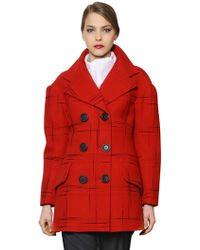 Vivienne Westwood Anglomania Printed Wool Flannel Coat - Lyst
