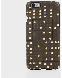 Paul Smith Black Leather 'Dominoes' Print Iphone 6 Case - Lyst