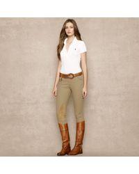 Ralph Lauren Blue Label - Longplacket Polo Shirt - Lyst