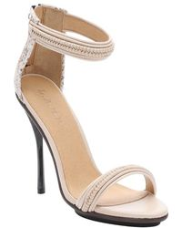 L.A.M.B. Vanilla And Rose Leather 'Kanye' Stiletto Sandals white - Lyst