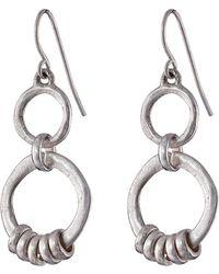The Sak Double Ring Drop Earrings - Lyst