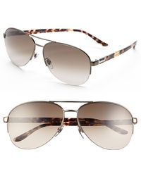 Gucci Women'S 62Mm Special Fit Metal Aviator Sunglasses - Shiny Brown - Lyst