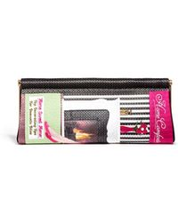 Charlotte Olympia 'Home Comforts' Magazine Embroidery Clutch black - Lyst