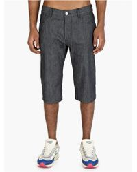 Raf Simons Men'S Indigo Denim Shorts - Lyst