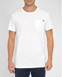 G-Star RAW | White Mazuren Regular Round-neck T-shirt With Chest Pocket | Lyst