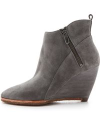 Belle By Sigerson Morrison - Hadrara Wedge Booties - Carbone - Lyst