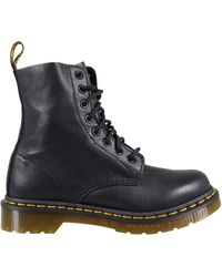 Dr. Martens Stivaletto In Pelle Pascal Nero Donna - Lyst