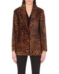 Rag & Bone Leopard Pattern Calf-Hair Jacket - Lyst