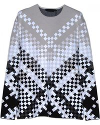 Alexander Wang Degrade Weave Crewneck Sweater - Lyst