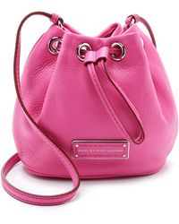 Marc By Marc Jacobs Too Hot To Handle Mini Drawstring Bag - Fuschia - Lyst