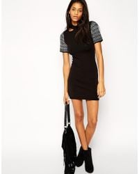 Asos Dress with Cut Out Detail - Lyst