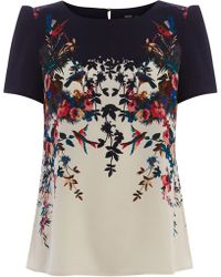 Oasis Trailing Bird Placement Tee - Lyst