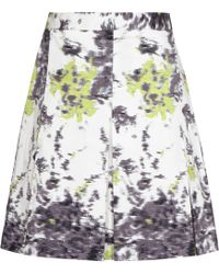 Reiss Stara Pleated Print Skirt - Lyst
