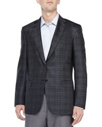 Brioni Plaid Two-Button Jacket - Lyst