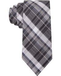 Calvin Klein University Plaid Skinny Tie - Lyst