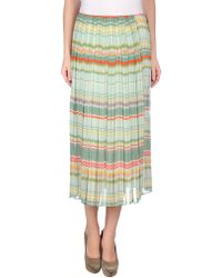 See By Chloé Green Long Skirt - Lyst