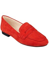 Nine West Linear Suede Loafers - Lyst