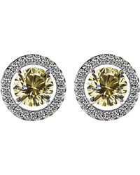 Carat* - Round 0.5ct Yellow Borderset Stud Earrings - Lyst