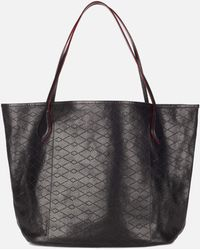 MZ Wallace - Paris Tote Black Vacchetta Leather - Lyst