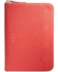 Kate Spade Ipad Air Zip Around Sleeve red - Lyst