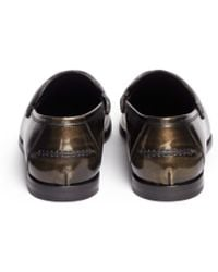 Jimmy Choo Darblay Brushed Mirror Leather Penny Loafers - Lyst