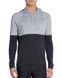 Vince Colorblock Hooded Pullover - Lyst