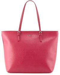 Furla Dlight Leather Tote Bag - Lyst